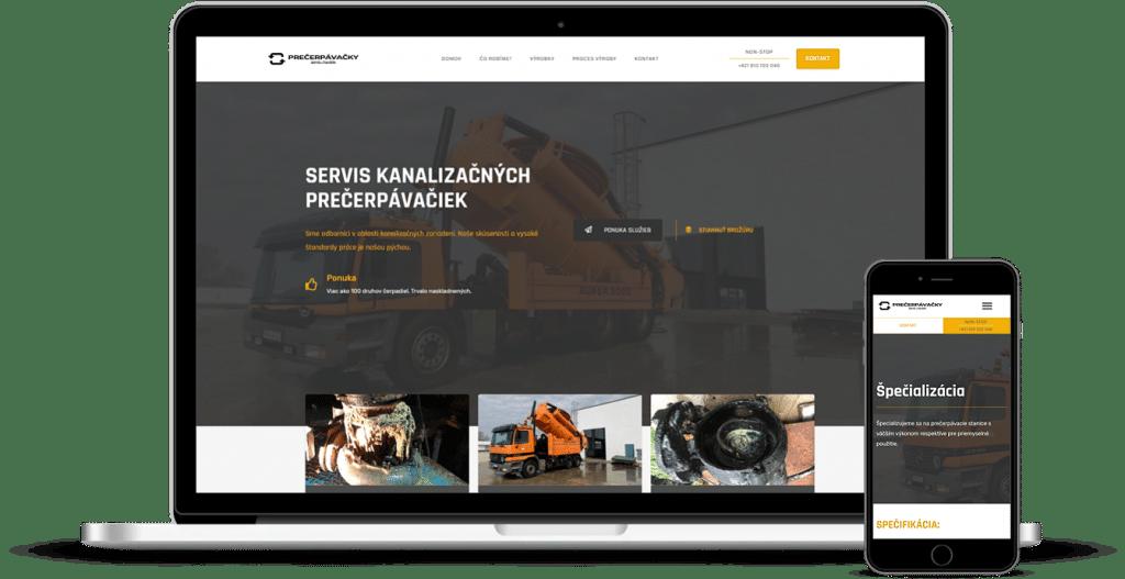 Precerpavacky.sk - Tvorba webových stránok